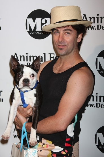 Tom Gold (NYC Ballet) with Berlini's dog Pie